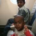 Kevin & Thambu in the plane