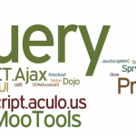 JavaScript libraries market share wordle